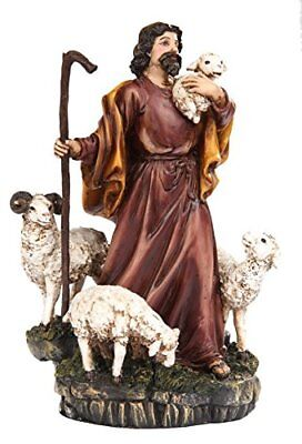 Parable of The Lost Sheep Shepard Religious Statue Figurine - The Lost Sheep Parable