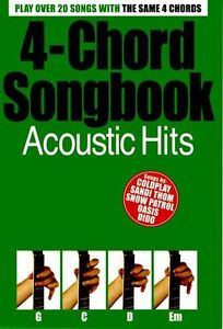 4-Chord Songbook Acoustic Hits Learn to Play Pop Guitar Music Book