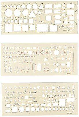 Koh-I-Noor - Set di normografi per impianti elettrici, 3 pezzi (P6h)