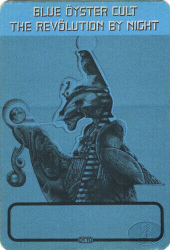 BLUE OYSTER CULT 1983 REVOLUTION TOUR Backstage Pass