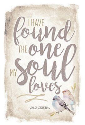 New Dexsa I Have Found The One My Soul Loves 6 X9  Wood Plaque With Easel Dx8789