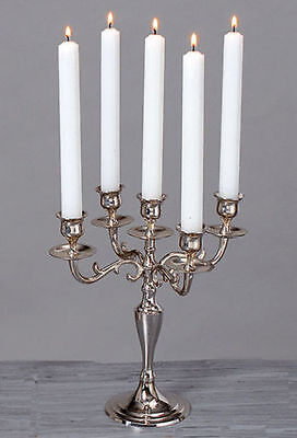 5 Arm Silver Candelabra Taper Candle Holders Candlestick Wedding Centerpieces