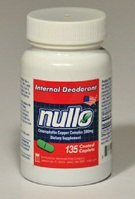135 Pc Nullo Internal Deodorant Caplets Oral Colostomy Os...