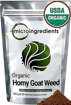 Micro Ingredients Organic Horny Goat Weed Extract Powder (Epimedium) 100 grams