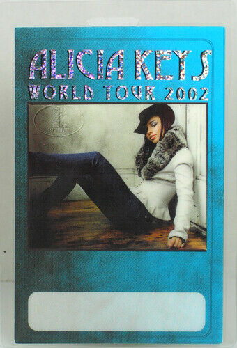 ALICIA KEYS 2002 WORLD TOUR LAMINATED BACKSTAGE PASS