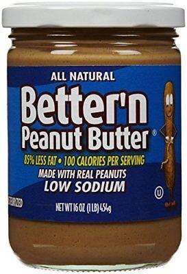 Better N Peanut Butter Low Sodium Low Fat Peanut Spread, 16 oz Low Sodium Peanut Butter