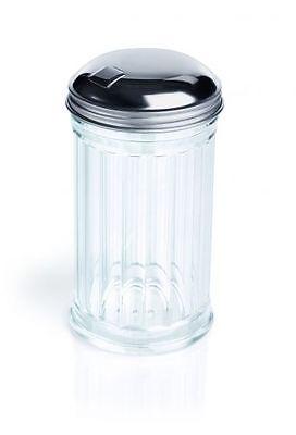 Streuer, Zuckerstreuer, American Style, Glas/Edelstahl, 0,30 Liter, 13,5 cm Höhe