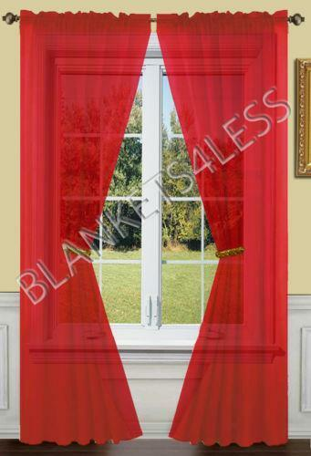 Red Sheer Curtains Ebay