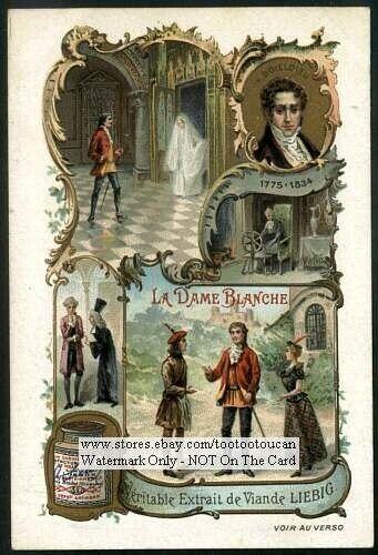 La Dame Blanche Opera By Boieldieu c1903 Trade Ad Card
