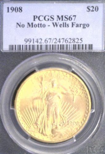 1908 No Motto 20 Gold Ebay