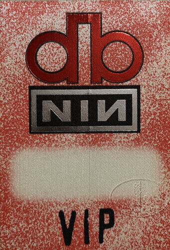 DAVID BOWIE 1995 OUTSIDE Tour Backstage Pass Nine Inch Nails
