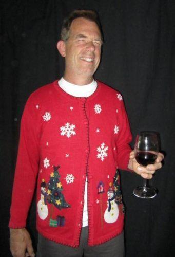 Mens Tacky Christmas Sweaters Ebay
