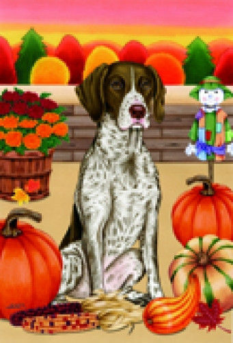 Autumn (TP) House Flag - German Shorthaired Pointer 67049