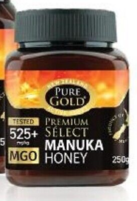 Pure Gold New Zealand Active Manuka Honey 525 + 250g BBE 10/2021