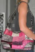Pink Patchwork Coach Purse