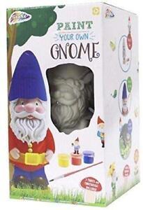 Paint Your Own Garden Gnome Statue Kids Art Kit Childrens Craft Activity Set
