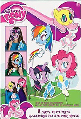 MY LITTLE PONY 8 photo booth props fun HAPPY BIRTHDAY party accessories horse](Fun Photo Booth Props)
