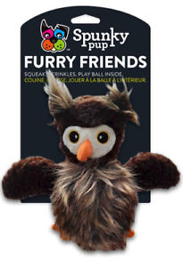 Spunky Pup Furry Friends Dog Toy-New