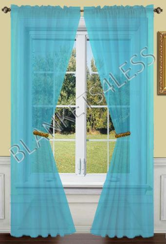 Turquoise Sheer Curtains Ebay