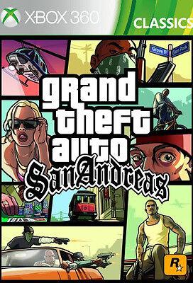 Microsoft XBOX 360 Spiel * GTA San Andreas HD Grand Theft Auto *******NEU*NEW*18 ()