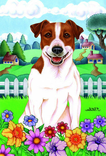 Spring House Flag - Jack Russell Terrier 73024