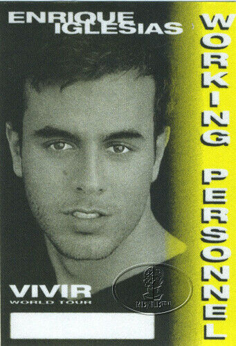 ENRIQUE IGLESIAS 1996 VIVIR TOUR Backstage Pass