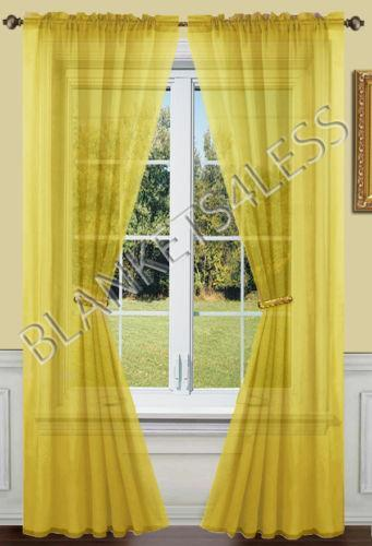 Gold Sheer Curtains Ebay