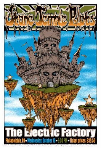 Stone Temple Pilots 2002 Electric Factory Silkscreen Poster - Drowning Creek