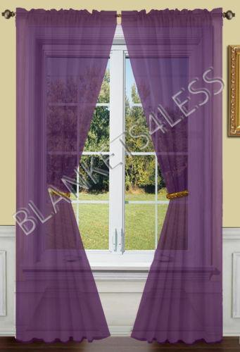 Purple Sheer Curtains Ebay