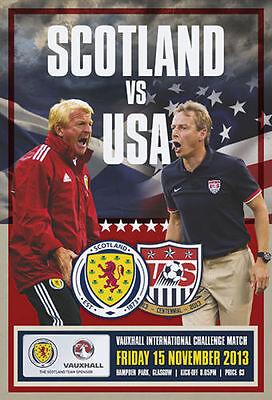 * 2013 - SCOTLAND v USA (15th November 2013) *