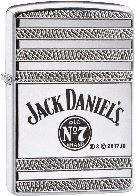 Zippo Choice Armor Jack Daniels WindProof Lighter High Polish Chrome 29526 New