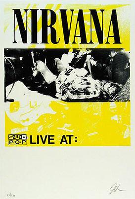 Nirvana Sub Pop Tour Poster AoMR 485.03