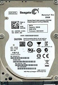 USED - Seagate Momentus Thin ST250LT003 – 2.5-Inch 250GB HDD