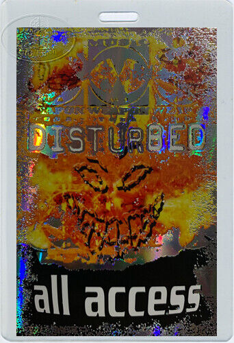 DISTURBED 2001 MUSIC as a Weapon Tour Laminated Backstage Pass