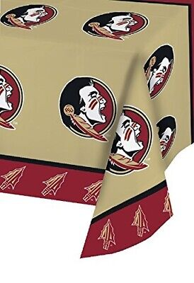 Creative Converting Florida State University Plastic Table Cover, 54 by 108