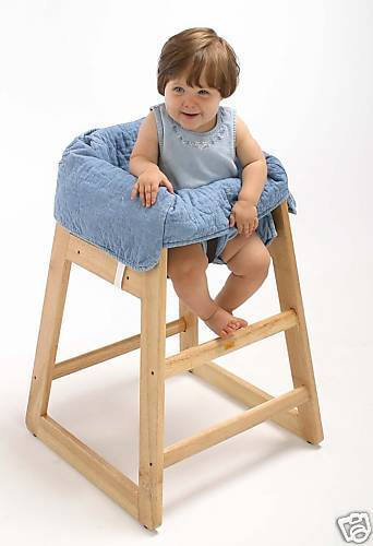 Denim Clean Diner High Chair Cover for Baby - New - Free Shipping!