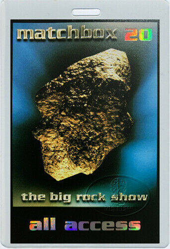 MATCHBOX TWENTY 1998 The Big Rock Show Tour Laminated Backstage Pass
