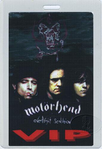 MOTORHEAD 1997 OVERNIGHT SENSATION Tour Laminated Backstage Pass