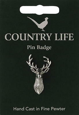Stag Pewter Lapel Pin Badge