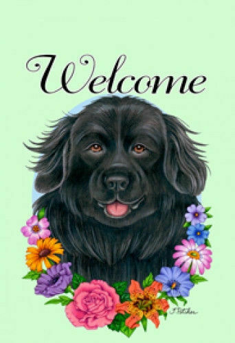 Welcome Flowers House Flag - Newfoundland 63079