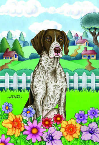 Spring House Flag - German Shorthaired Pointer 73049