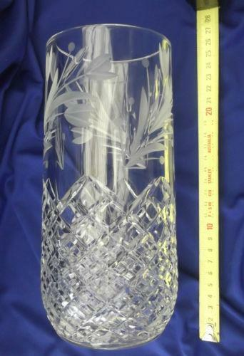 Etched Glass Vase Ebay