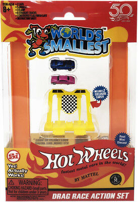 World's Smallest: Hot Wheels Mini World Drag Race Set (Includes 2cars) [New Toy]