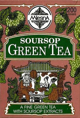 (Mlesna Pure Ceylon Soursop Green Tea Graviola Loose Leaf  )
