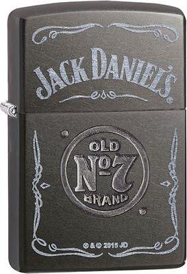 Zippo 29150, Jack Daniels Old No. 7 Brand, Gray Dusk Finish Lighter, Full Size