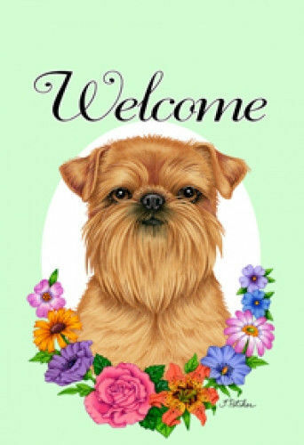 Welcome Garden Flag - Brussels Griffon 631281