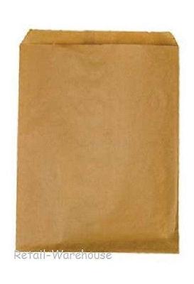 Flat Paper Bags 1000 Natural Kraft Retail Store Sales Merchandise 8 X 11