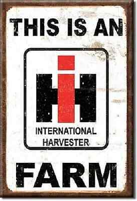 This is an International Harvester Farm Miniature Sign Magnet 2 inch X 3 inch