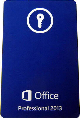 Microsoft Office 2013 Professional Full Retail Product Key Card  Pkc  Brand New