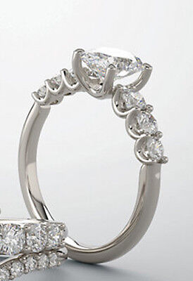 GIA 1.01 ct Round Diamond Engagement Solitaire 14k White Gold Ring E I-Flawless